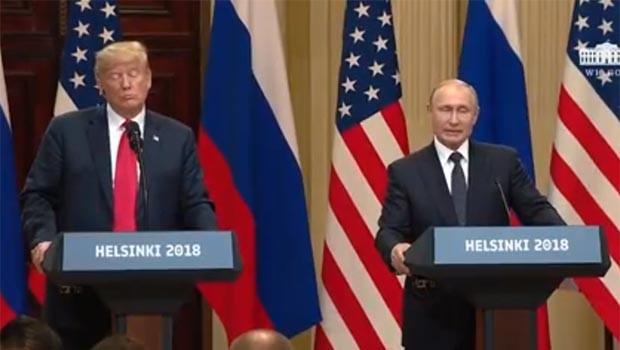Trump ve Putin'den ortak basın toplantısı