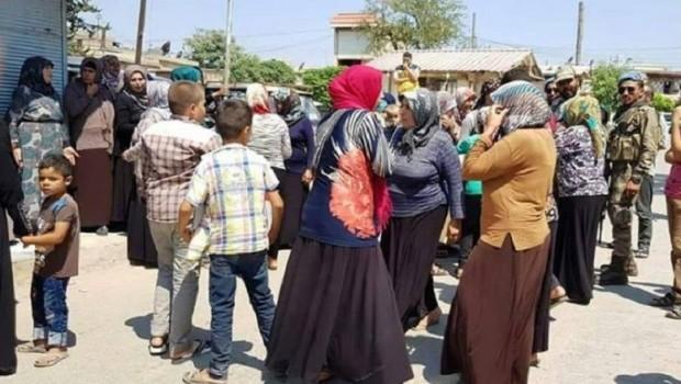 Efrin'de kadınlar sokağa indi!