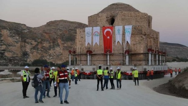 Hasankeyf'teki tarihi Artuklu Hamamı taşınıyor