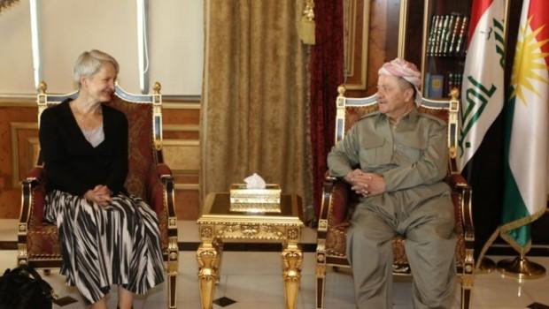 Başkan Barzani'yi ziyaret eden Alman Başkonsolosu'ndan devam mesajı!