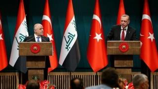 Erdoğan ile Abadi'den ortak basın toplantısı
