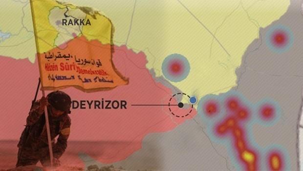 DSG ve YPG ilerliyor... IŞİD'in kuzey ve doğu Suriye'deki 'son kalesi' alınmak üzere!