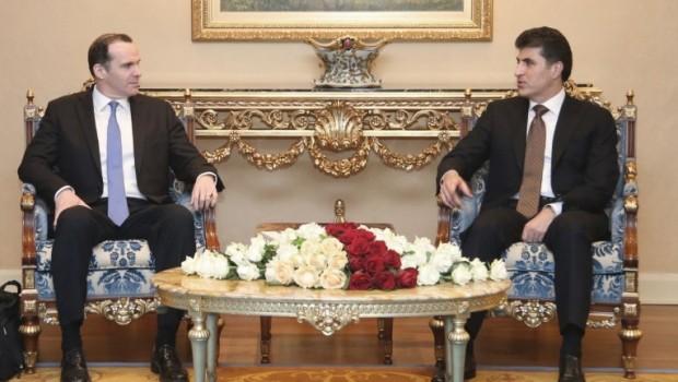 Başbakan Barzani, McGurk'u kabul etti