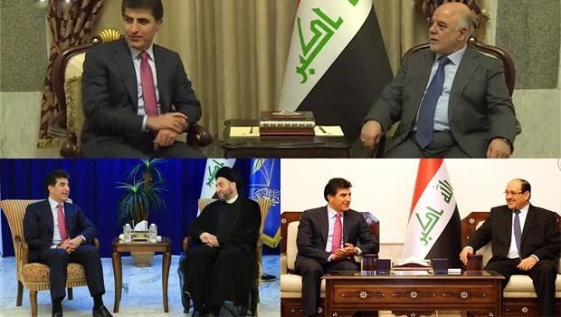Başbakan Barzani'nin Bağdat temasları