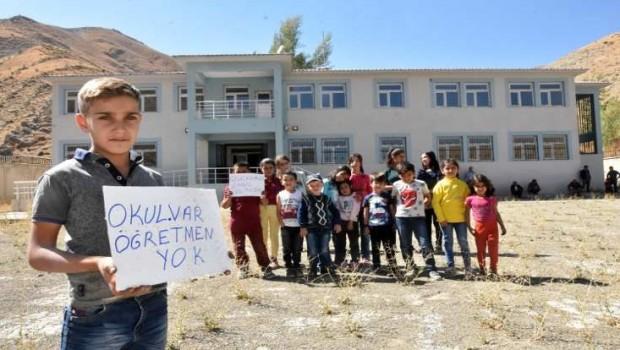 2016'da inşaatı bitti... Kürt ilçesinde okul var Öğretmen yok!