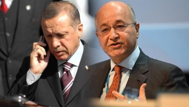 Erdoğan'dan Irak'ın yeni cumhurbaşkanı Salih'e tebrik telefonu
