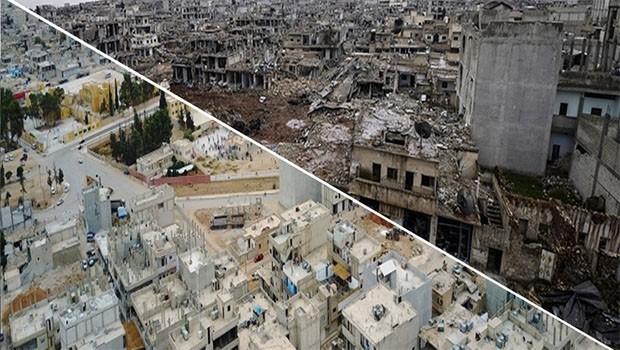 Enkaza dönen Kobani'nin yeni görüntüsü