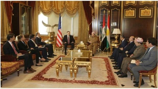 Başkan Barzani, ABD heyetini kabul etti