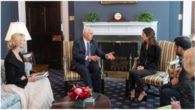 ABD Başkan Yardımcısı'ndan Nadia Murad'a övgü dolu sözler