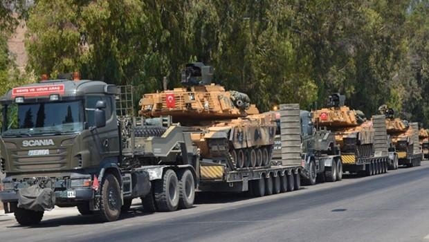 Rojava sınırına askeri sevkiyat