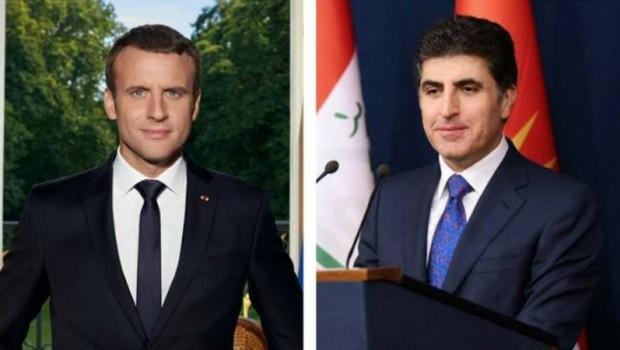 Başbakan Barzani, Fransa Cumhurbaşkanı Macron ile görüştü