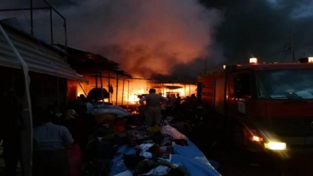 Erbil'de yangın