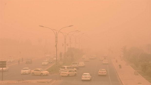 Toz bulutu Kürdistan'da hayatı olumsuz etkiledi