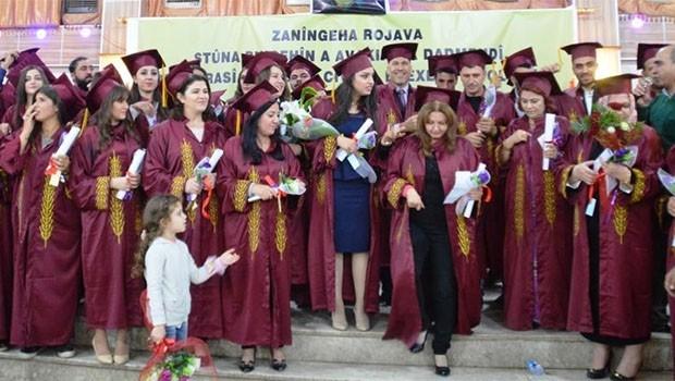 Rojava üniversitesi ilk mezunlarını verdi
