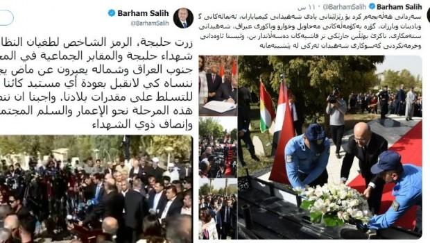 Irak'ın Kürt Cumhurbaşkanı Behrem Salih, Kürdistan'a 'Kuzey Irak' dedi!