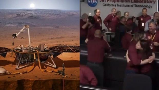 NASA'nın keşif aracı Mars'a indi