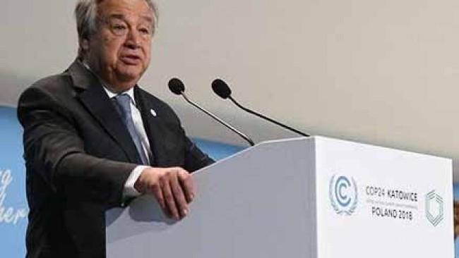 Guterres: Geç olmadan hızlı çözümler bulmalıyız