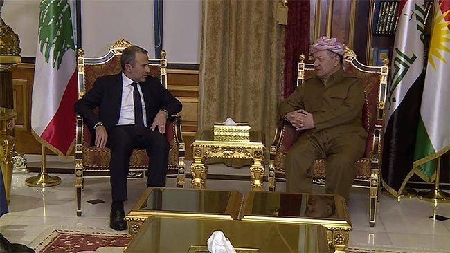 Başkan Barzani Lübnanlı Bakan'la görüştü