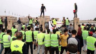 'Sarı yelekliler' Irak'ta da eyleme başladı