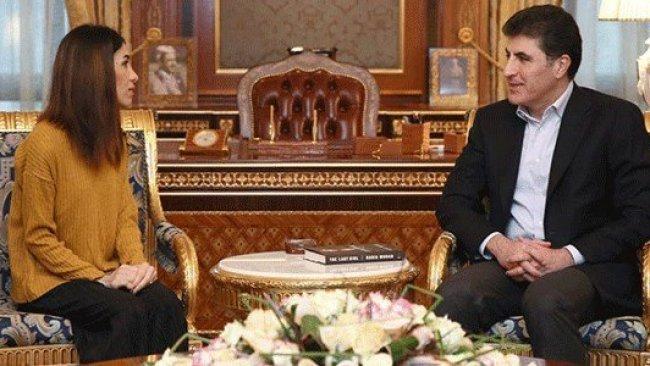 Başbakan Barzani'den Nadia Murad'a destek