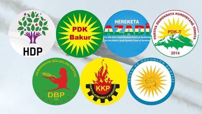 7 Kürt partisinden ortak açıklama: Türkiye'ye bombardıman çağrısı
