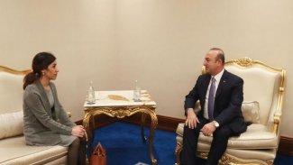 Nadia Murad, Mevlüt Çavuşoğlu'yla ile görüştü