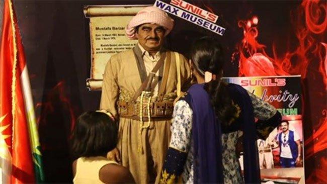 Ölümsüz Barzani'nin heykeli Hindistan'ın en büyük müzesinde
