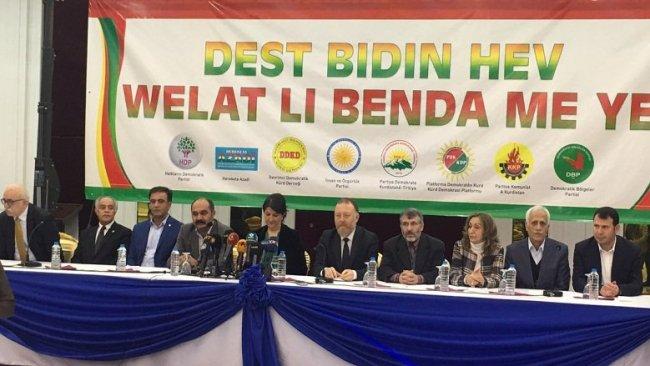 Kürdistani ittifak Diyarbakır'da ilan edildi