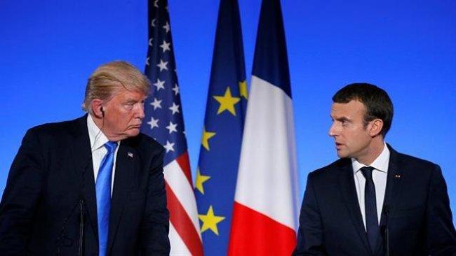 ABD Başkanı Trump, Fransız lider Macron ile Suriye'yi görüştü