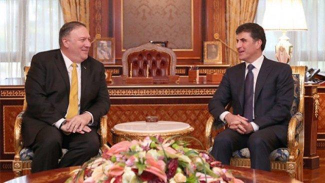 Başbakan Neçirvan Barzani, Mike Pompeo ile bir araya geldi