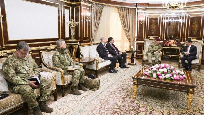 Mesrur Barzani İngiliz askeri heyetiyle görüştü