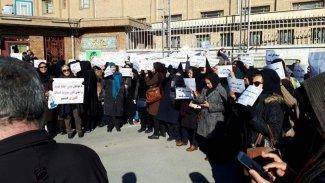 Rojhilat'ta öğretmenlerden protesto gösterisi