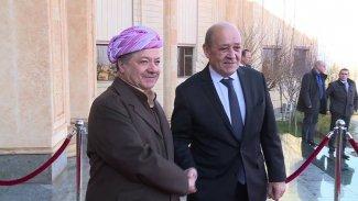 Başkan Barzani Fransız Dışişleri Bakanı ile bir araya geldi