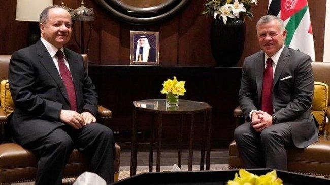 Başkan Mesud Barzani, Kral II. Abdullah ile bir araya geldi