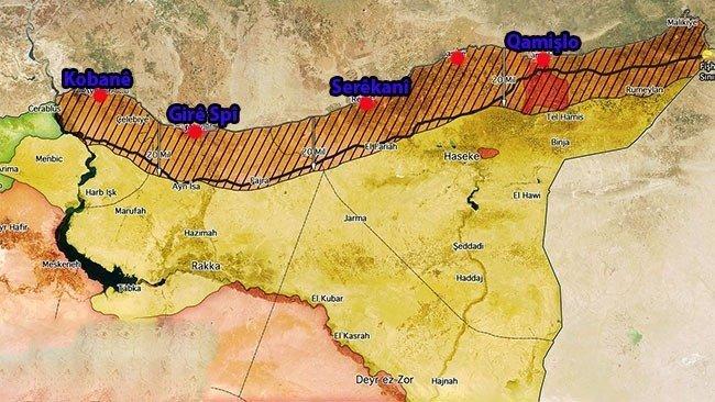 Güvenli Bölgeye, YPG'nin yer almadığı, 10 bin Arap ve Kürt savaşçı