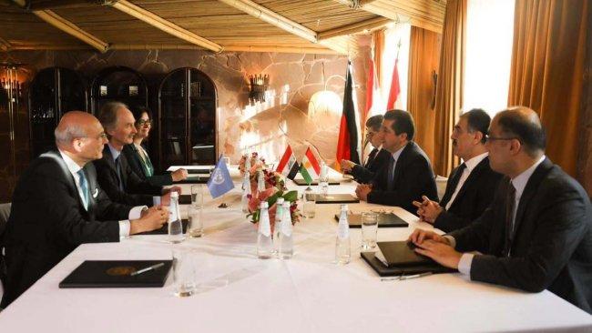 Mesrur Barzani, BM Suriye Özel Temsilcisi ile görüştü