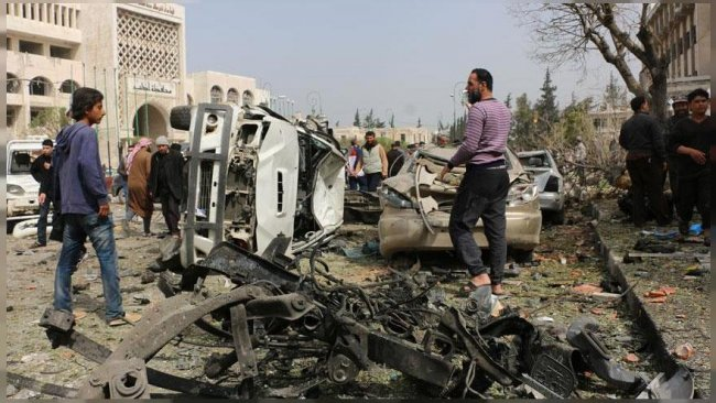 İdlib'de bomba yüklü araçlarla saldırı