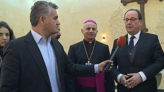 Kürdistan'a gelen Hollande uluslararası toplumu uyardı!