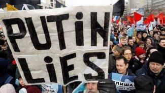 Rusya'da internet kısıtlamaları protesto edildi