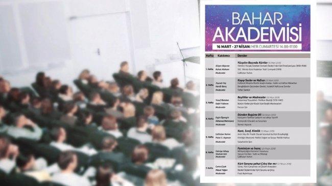 Kürdoloji çalışmaları için 'Bahar Akademisi' başlıyor