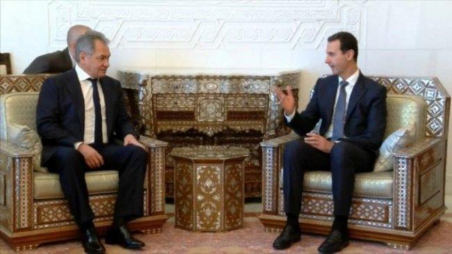 Rusya Savunma Bakanı Sergey Şoygu Esad'la görüştü