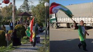 Kerkük'te nam saldı: Kürdistan'ı üzerinde taşıyan adam
