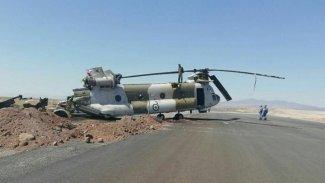 Rojhılat'ta askeri helikopter düştü