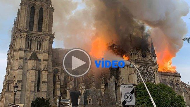 800 yıllık Dünyaca ünlü katedralde büyük yangın