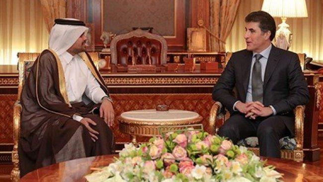Başbakan Barzani, Katar'ın Bağdat Büyükelçiliği yetkililerini kabul etti