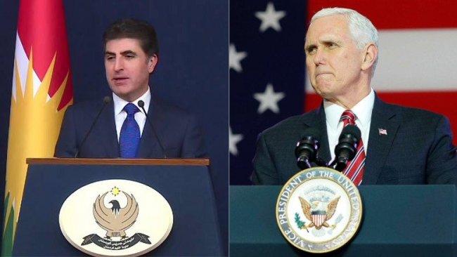 Başbakan Barzani ile Mike Pence telefonda görüştü