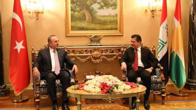Mesrur Barzani, Mevlüt Çavuşoğlu ile görüştü