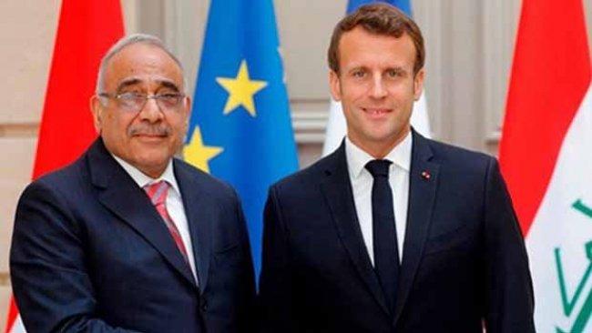 Macron, Abdulmehdi ile görüştü