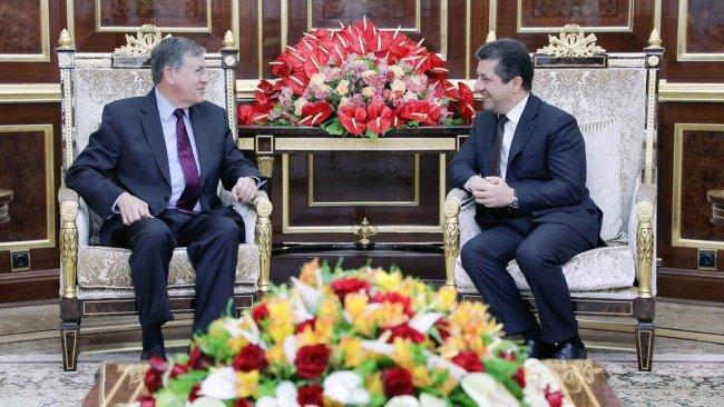 Mesrur Barzani üst düzey ABD'li heyetle bir araya geldi