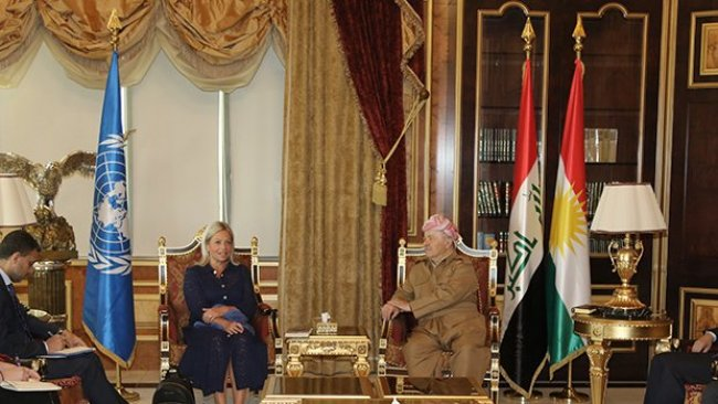 Başkan Barzani BM Özel Temsilcisi'ni kabul etti